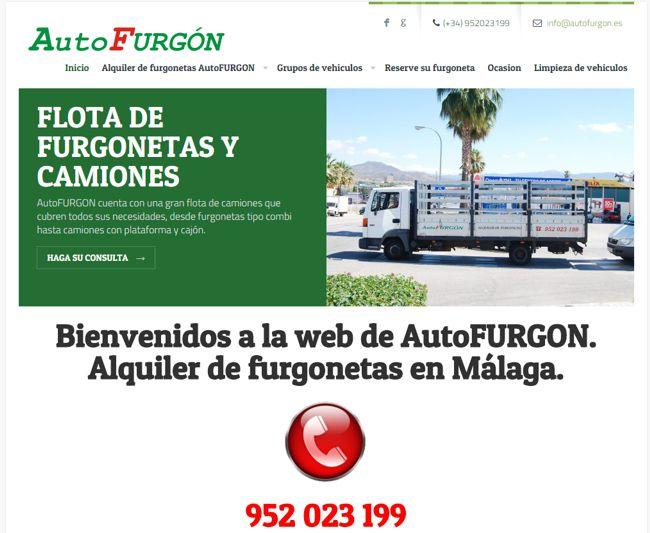 Nueva pagina web para AutoFURGON